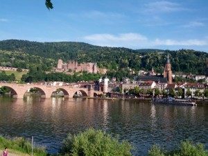 Heidelberg mit Schloss und Altstadt