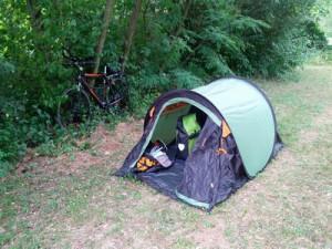 Wild Campen auf Radtour