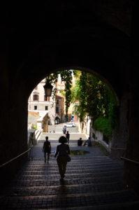 Treppe der Kriminellen Monti
