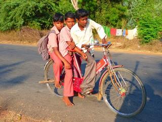 Fahrrad fahren in Indien