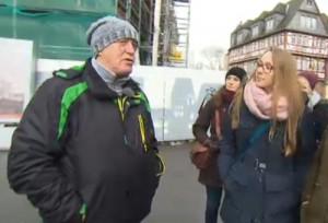 Obdachlosen Tour durch Frankfurt