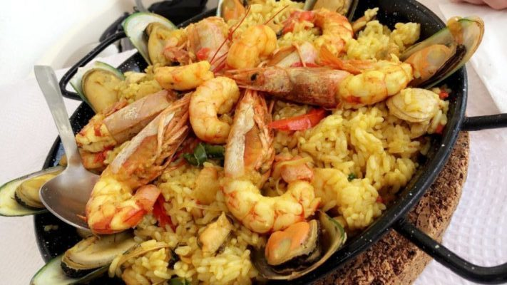 Paella Pfanne Algarve Essen