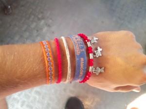 Meine Armbänder auf Weltreise