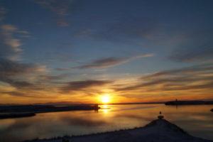 Sonnenaufgang in Höfn