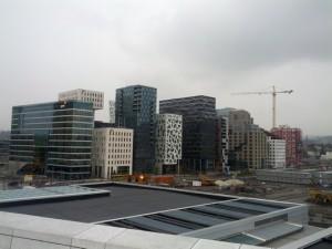 """Aussicht von Oper auf """"New Oslo"""""""