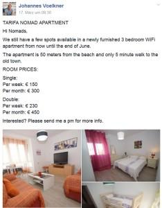 Tarifa Apartment neue Preise