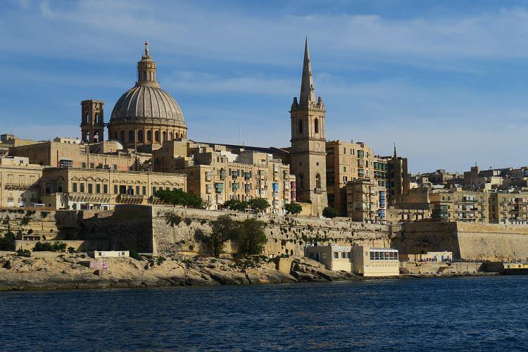 Valletta Skyline Marsamxett Hafen