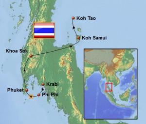Weltreise_Karte_Thailand_Sued