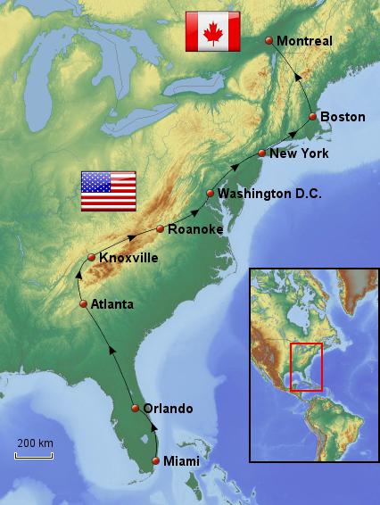 Weltreise_Reiseroute_USA