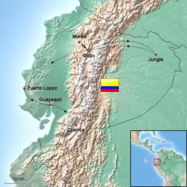 Weltreise_Route_Ecuador