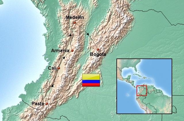 Weltreise_Route_Kolumbien