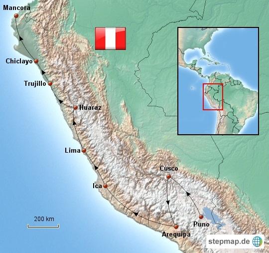 Weltreise_Route_Peru