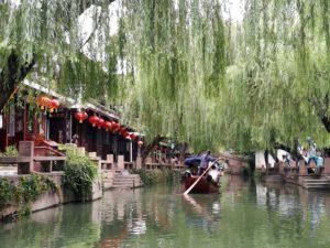 Kanal in der Wasserstadt Zhouzhouang