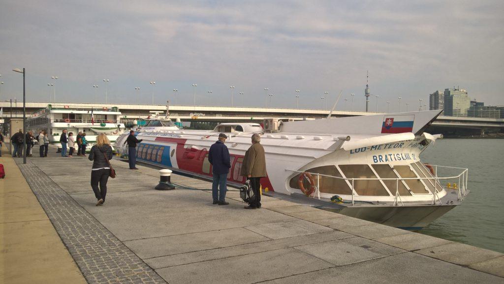 Tragflügelboot Wien - Bratislava