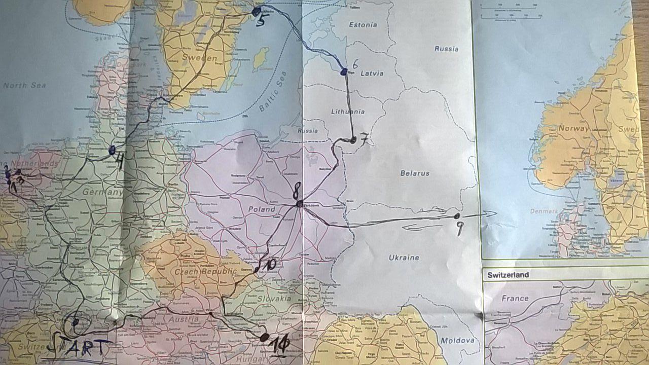 Auf Schienen durch Europa