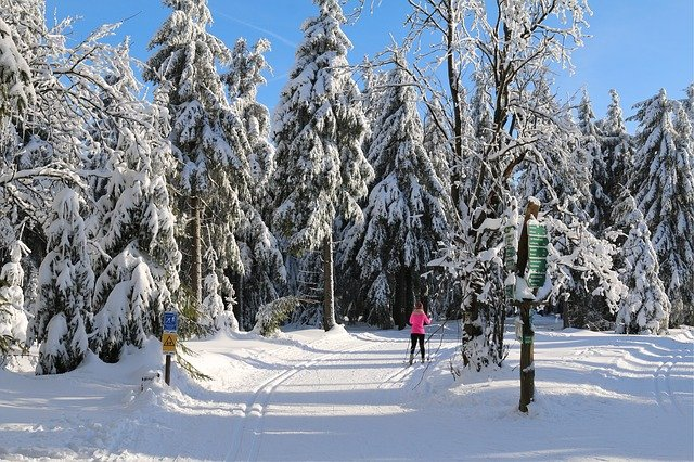 Skifahren im Thüringer Wald