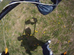Skydive Landung